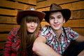 Cowboy And Cowgirl Couple Royalty Free Stock Images - 19203259
