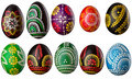 Collection Of Decorative Easter Eggs Stock Image - 19207041
