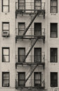 New York City Apartment Stairway Black And White Royalty Free Stock Photography - 19215957