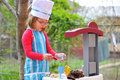 Little Girl Having Fun Playing Cooking Royalty Free Stock Images - 19227919
