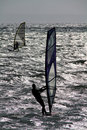 Two Wind Surfers. Stock Photo - 19229090