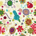 Seamless Floral Pattern Royalty Free Stock Image - 19229396