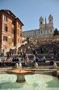 Spring At The Spanish Steps, Rome Italy Stock Photo - 19249980