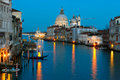 Grand Canal And Salute At Dusk, Venice Royalty Free Stock Images - 19252709