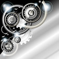 Abstract Techno Background With Gears Royalty Free Stock Photography - 19264217