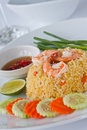 Thai Food Fried Rice With Shrimp Royalty Free Stock Image - 19269366