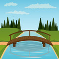 Small Wooden Bridge Stock Photography - 19274502