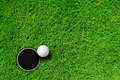 Golf Ball And Hole Royalty Free Stock Images - 19280909