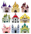 Cartoon Fairy Tale Castle Icon Royalty Free Stock Image - 19281686