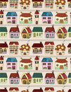 Seamless Cartoon House Pattern Royalty Free Stock Images - 19295559