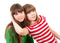 Portrait Of Two Lovely Sisters Stock Images - 19295994