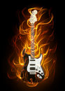 Guitar In Fire Stock Photography - 19321382