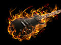 Guitar In Fire Royalty Free Stock Images - 19321499