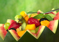 Fruit Salad In Melon Bowl Stock Photos - 19369343