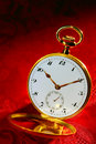 Antique Open-Face Gold Pocket Watch Old Timepiece  Stock Photos - 19382443