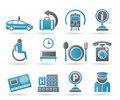 Airport, Travel And Transportation Icons 2 Stock Photography - 19382702