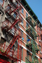 Fire Escapes In New York City Royalty Free Stock Image - 19422026