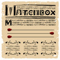 Matchbox Typography Woodcut Royalty Free Stock Images - 19434019