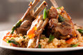 Lamb Chops With Spicy Rice Stock Images - 19435814
