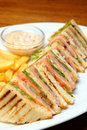 Sandwich On A Plate Royalty Free Stock Photography - 19458217