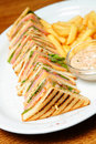 Sandwich On A Plate Royalty Free Stock Images - 19458299
