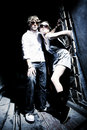 Fashionable Young Couple Wearing Sunglasses Royalty Free Stock Image - 19467836