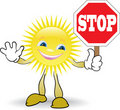 Sunny With Prohibitory Sign Stock Photos - 19496183