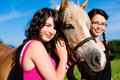 Teenage Girls With Horse Stock Photos - 19496693