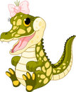 Baby Girl Crocodile Royalty Free Stock Images - 19512709
