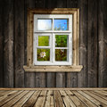 Wooden Interior With Window Stock Photo - 19524040
