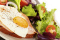 Liver Loaf And Fried Egg Stock Photography - 19531912