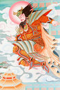Antique Chinese Mural. Stock Photos - 19555453