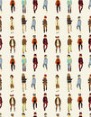 Seamless Young Boy Pattern Stock Images - 19559984