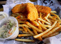 Fish & Chips Basket Stock Photos - 19570533