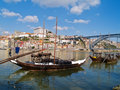Old Porto And  Traditional Boats With Wine Barrels Royalty Free Stock Photos - 19572498