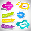 Colorful  Speech Bubbles And Arrows Stock Photo - 19573870