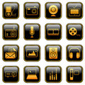 Mass Media Icons - Golden Series Stock Images - 19636184