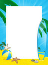 Summer Border And Surfboard Royalty Free Stock Photo - 19644255