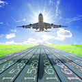 Airplane Take Off Royalty Free Stock Photography - 19646597