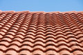 Red Tile Roof Under Blue Sky Stock Photo - 19652470
