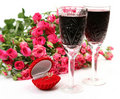 Wine And Roses Royalty Free Stock Images - 19654829