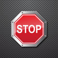 Sstop Sign Background Royalty Free Stock Images - 19658069
