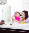One For Mama, One For Papa, ... Stock Photography - 19674472