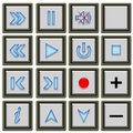 Tv Buttons Royalty Free Stock Images - 19677169