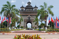 Patouxai In Vientiane Royalty Free Stock Photography - 19686017
