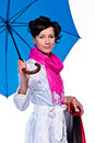 Woman With Umbrella Stock Photography - 19693132