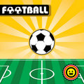 Football (soccer) Background Stock Photography - 19696952