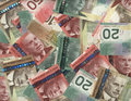 Background Of Canadian Bills Royalty Free Stock Photography - 1975957