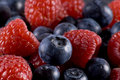 Blueberries And Raspberries Royalty Free Stock Photos - 19701568
