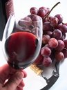 Chianti Reserve Red Wine, Glass, Grapes Stock Image - 19716751